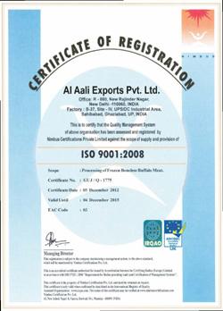Meat Exporters Certifications